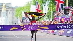 Finishing line - London Olympics Mens Marathon